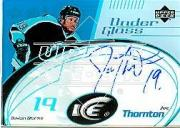 2003-04 Upper Deck Ice Under Glass Autographs #UGJT Joe Thornton