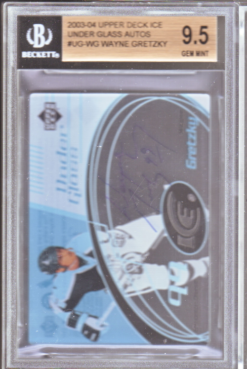 2003-04 Upper Deck Ice Under Glass Autographs #UGWG Wayne Gretzky