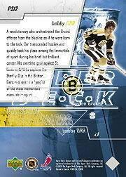 2003-04 Upper Deck Performers #PS12 Bobby Orr back image