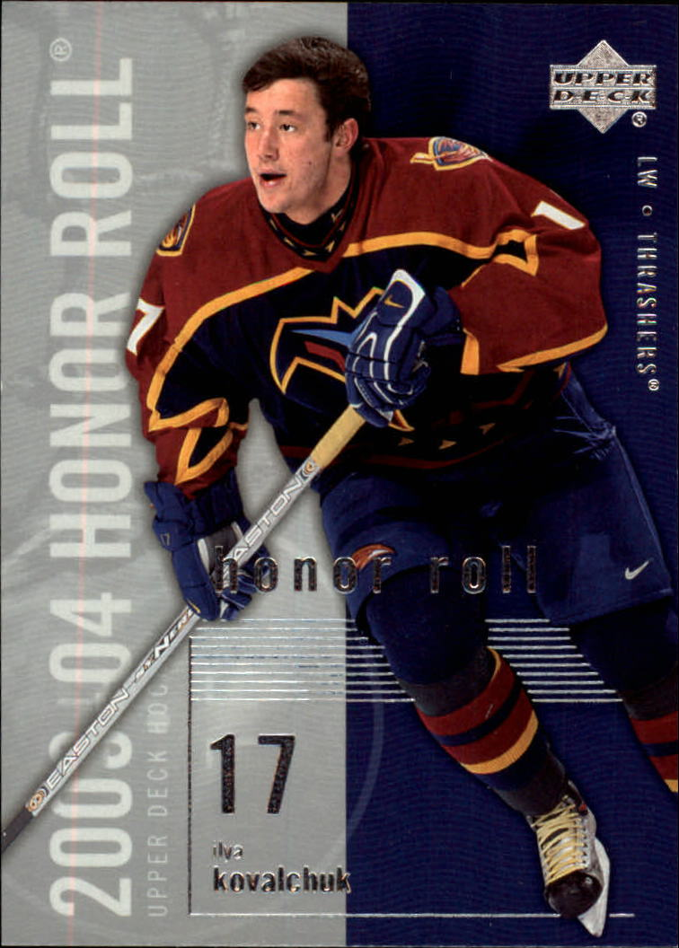 2003-04 Upper Deck Honor Roll #4 Ilya Kovalchuk