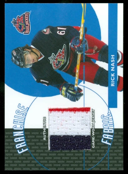 2003-04 Topps Traded Franchise Fabrics #FFRN Rick Nash