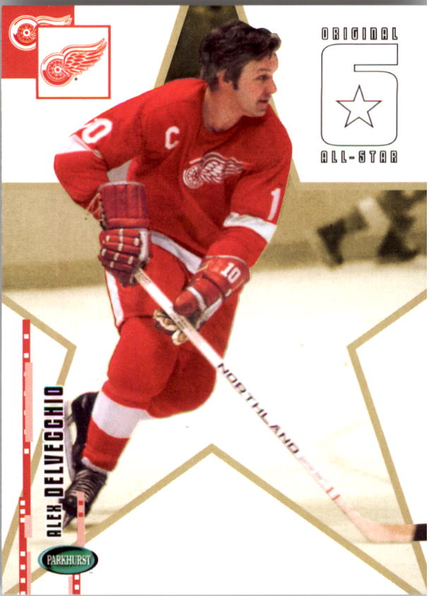 2003-04 Parkhurst Original Six Detroit #70 Alex Delvecchio AS