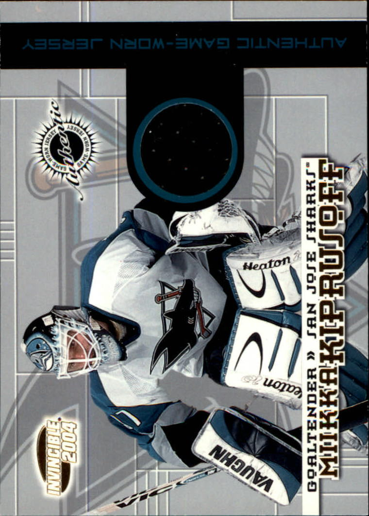 2003-04 Pacific Invincible Jerseys #27 Miikka Kiprusoff