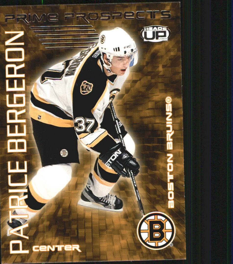 2003-04 Pacific Heads Up Prime Prospects #2 Patrice Bergeron