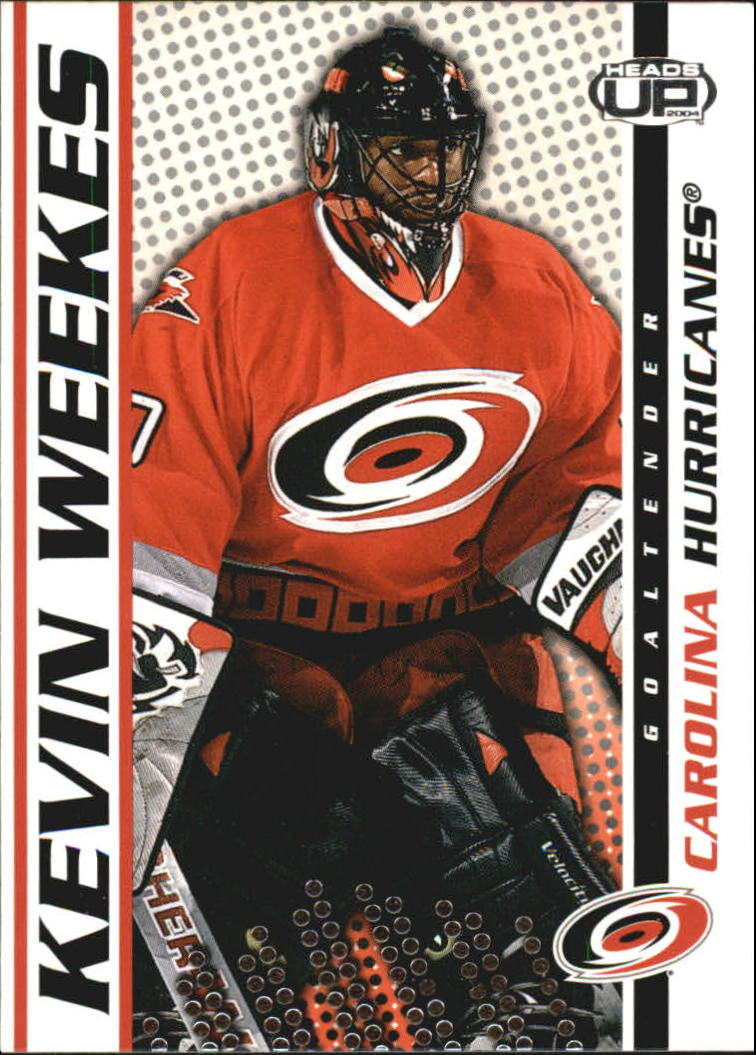 2003-04 Pacific Heads Up #19 Kevin Weekes