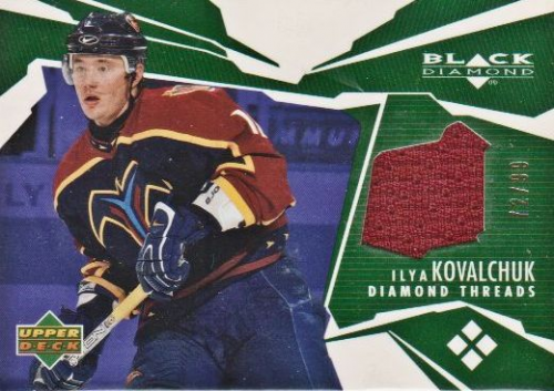 2003-04 Black Diamond Threads Green #DTIK Ilya Kovalchuk