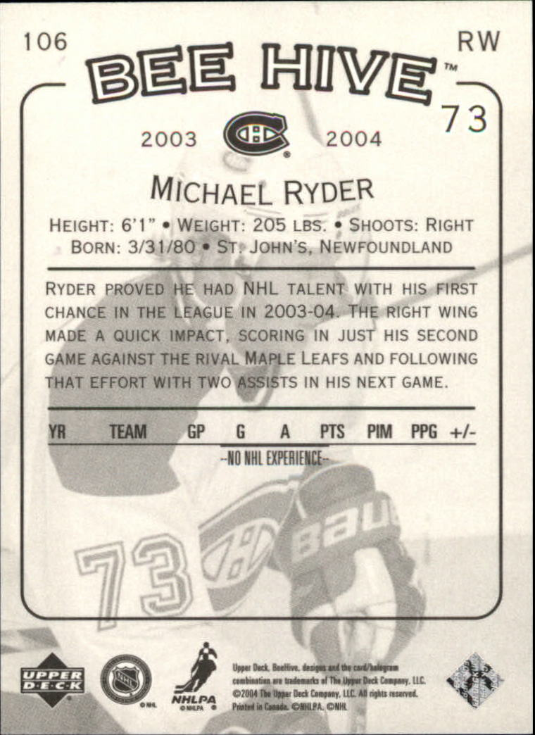 2003-04 Beehive #106 Michael Ryder