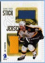 2003-04 BAP Memorabilia Jersey and Stick #SJ1 Joe Thornton
