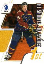 2003-04 BAP Memorabilia He Shoots-He Scores Points #6 Dany Heatley 1 Pt.