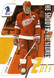 2003-04 BAP Memorabilia He Shoots-He Scores Points #9 Steve Yzerman 2 Pts.