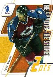2003-04 BAP Memorabilia He Shoots-He Scores Points #13 Teemu Selanne 2 Pts.