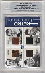 2004-05 ITG Ultimate Memorabilia Retro Teammates #10 Ace Bailey/Hap Day/King Clancy/Joe Primeau