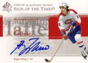 2004-05 SP Authentic Sign of the Times #STGL Guy Lafleur SP