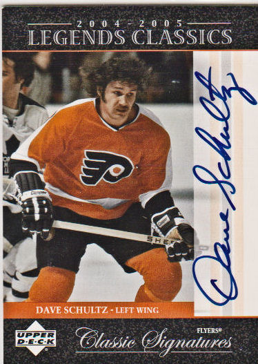 2004-05 UD Legends Classics Signatures #CS37 Dave Schultz