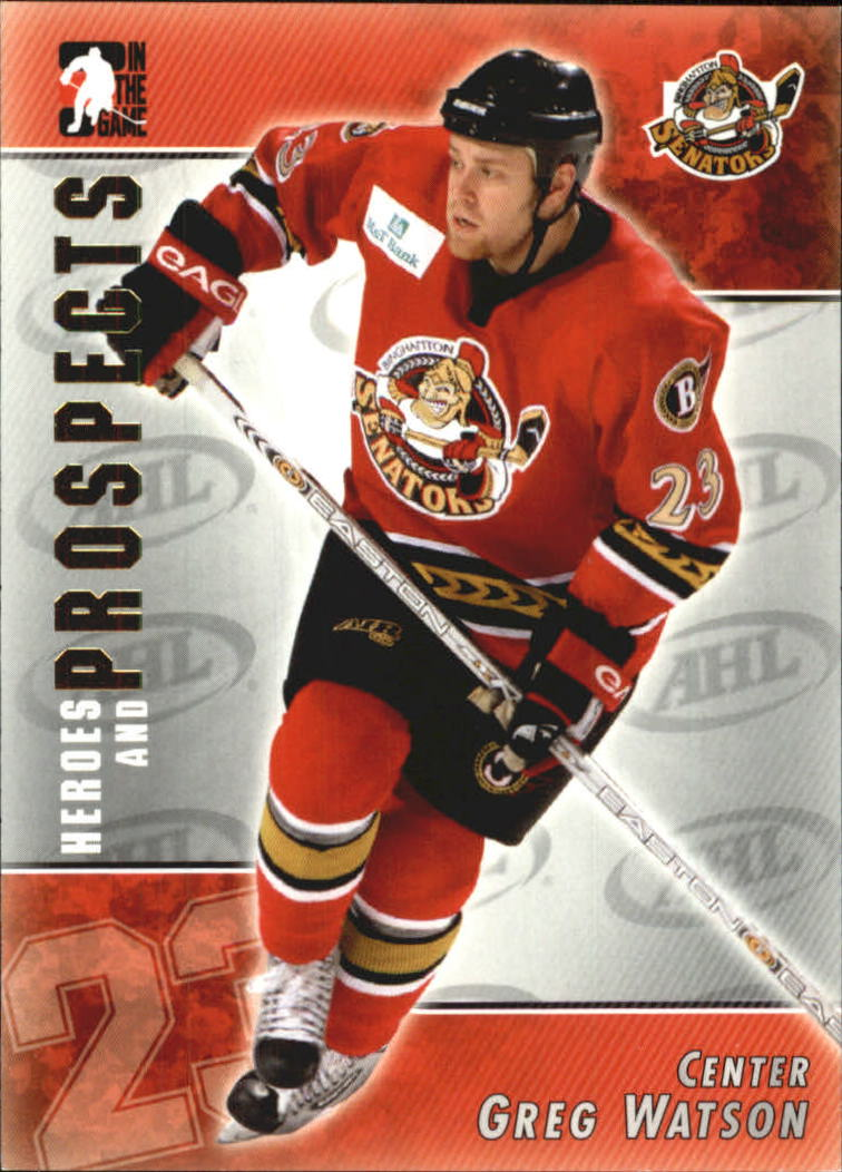 2004-05 ITG Heroes and Prospects #17 Greg Watson