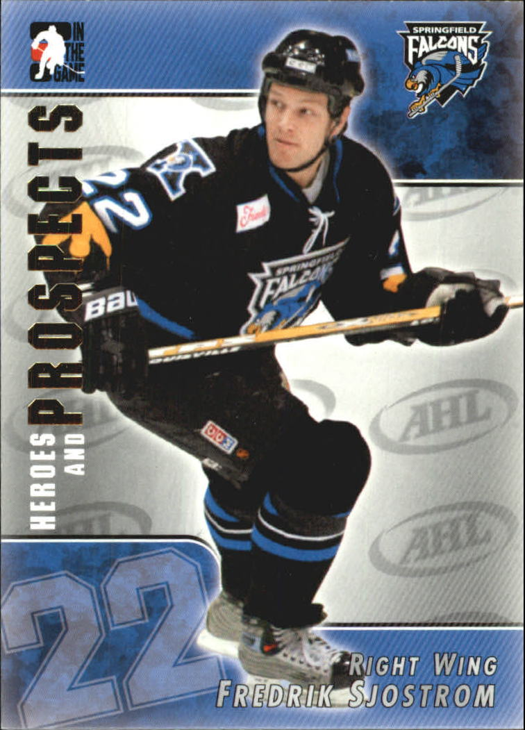 2004-05 ITG Heroes and Prospects #112 Fredrik Sjostrom