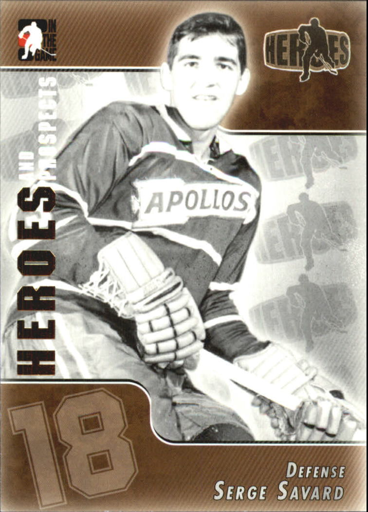 2004-05 ITG Heroes and Prospects #132 Serge Savard