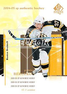 2004-05 SP Authentic #9 Patrice Bergeron