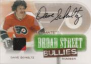 2004-05 ITG Ultimate Memorabilia Broad Street Bullies Number Autographs #4 Dave Schultz
