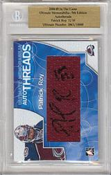 2004-05 ITG Ultimate Memorabilia Auto Threads #11 Patrick Roy COL