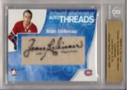 2004-05 ITG Ultimate Memorabilia Auto Threads #16 Jean Beliveau