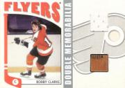 2004-05 ITG Franchises US East Double Memorabilia #EDM2 Bobby Clarke