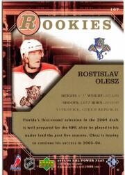 2005-06 UD PowerPlay #167 Rostislav Olesz RC back image