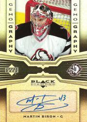 2005-06 Black Diamond Gemography #GBI Martin Biron