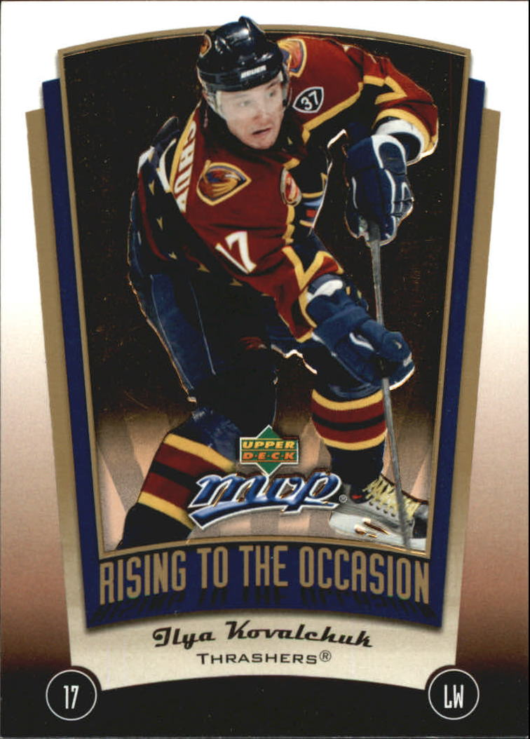 2005-06 Upper Deck MVP Rising to the Occasion #RO14 Ilya Kovalchuk