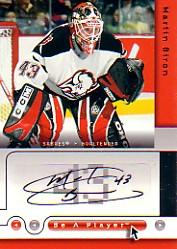 2005-06 Be A Player Signatures #BI Martin Biron