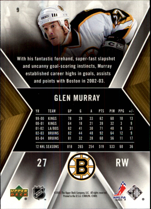 2005-06 SPx #9 Glen Murray back image