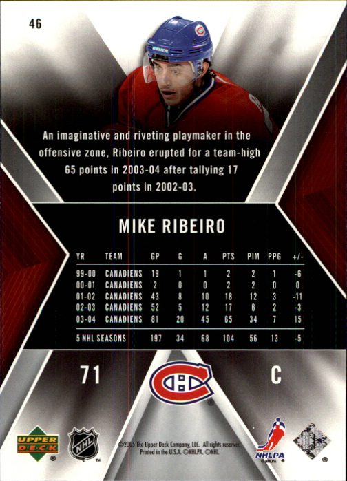 2005-06 SPx #46 Mike Ribeiro back image