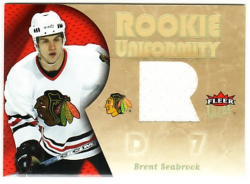 2005-06 Ultra Rookie Uniformity Jerseys #RUBS Brent Seabrook