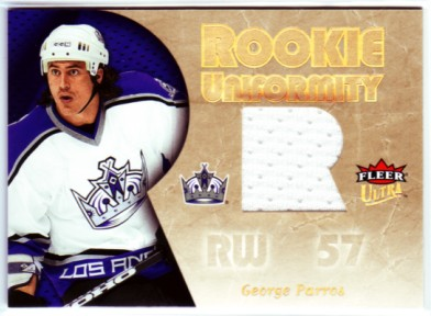 2005-06 Ultra Rookie Uniformity Jerseys #RUGP George Parros