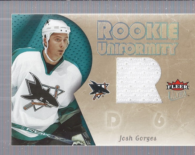 2005-06 Ultra Rookie Uniformity Jerseys #RUJG Josh Gorges