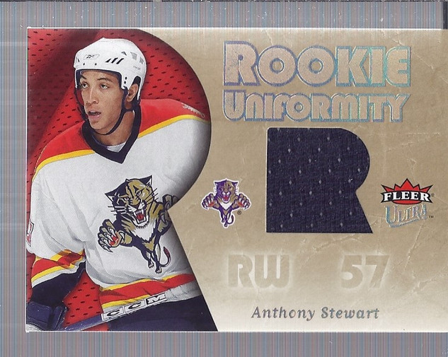 2005-06 Ultra Rookie Uniformity Jerseys #RUST Anthony Stewart