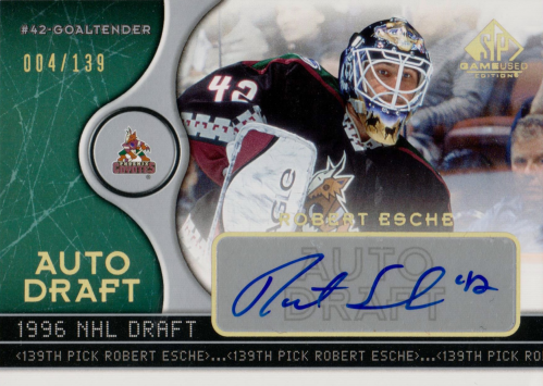2005-06 SP Game Used Auto Draft #ADRE Robert Esche/139