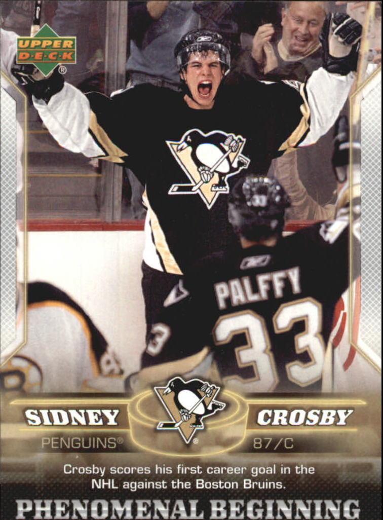 2005-06 Upper Deck Phenomenal Beginnings #4 Sidney Crosby