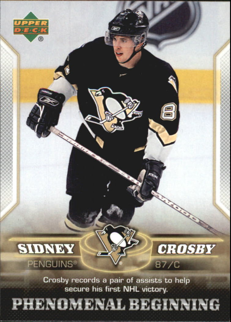 2005-06 UD Phenomenal Beginnings #6 Sidney Crosby front image