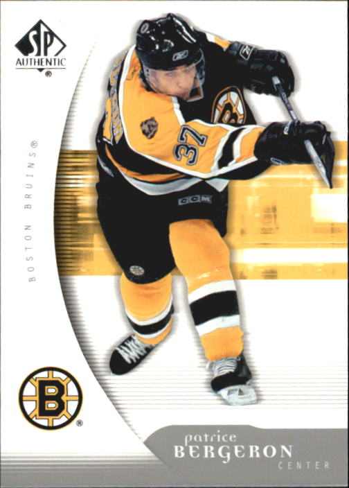 2005-06 SP Authentic #11 Patrice Bergeron