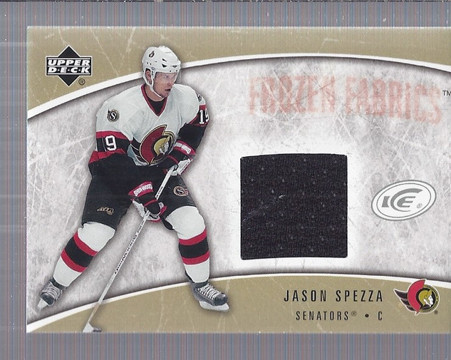 2005-06 Upper Deck Ice Frozen Fabrics #FFSP Jason Spezza