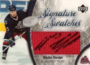 2005-06 Upper Deck Ice Signature Swatches #SSNZ Nikolai Zherdev