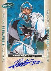 2005-06 Parkhurst Signatures #DP Dimitri Patzold