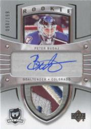 2005-06 The Cup #117 Peter Budaj JSY AU RC