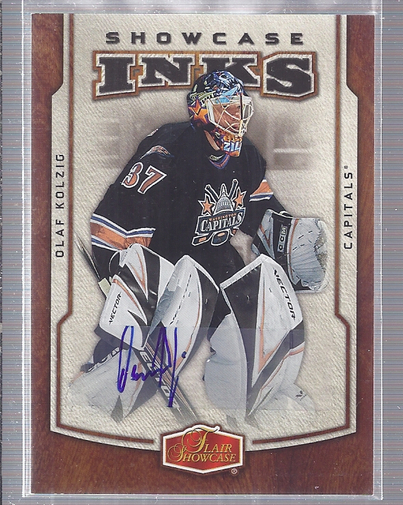 2006-07 Flair Showcase Inks #IOK Olaf Kolzig