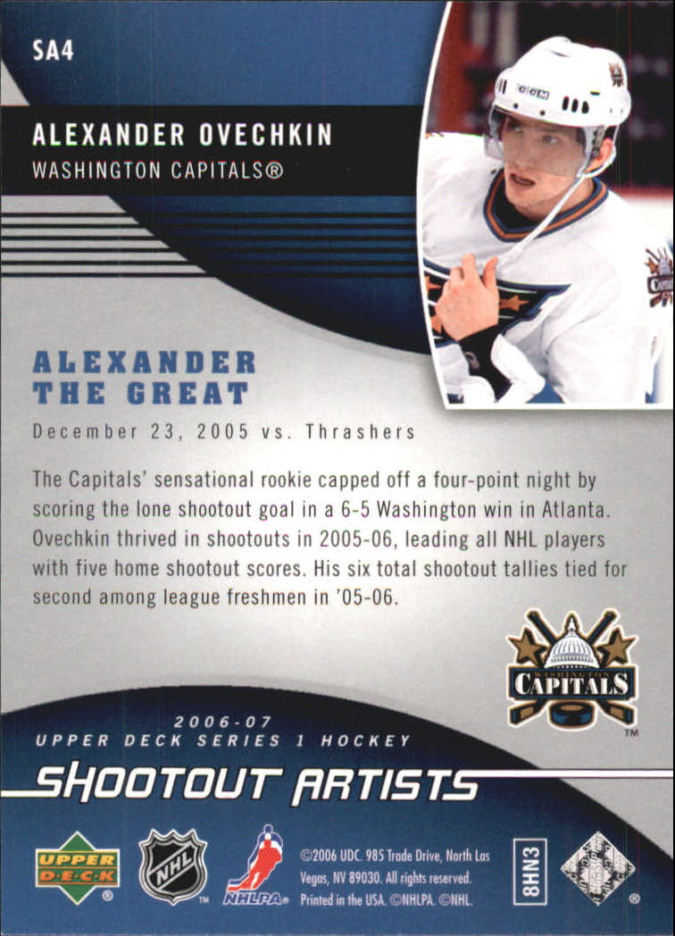 2006-07 Upper Deck Shootout Artists #SA4 Alexander Ovechkin