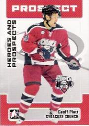 2006-07 ITG Heroes and Prospects #167 Geoff Platt
