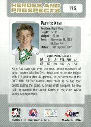 2006-07 ITG Heroes and Prospects #175 Patrick Kane back image