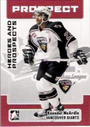2006-07 ITG Heroes and Prospects #181 Kenndal McArdle