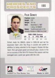 2006-07 ITG Heroes and Prospects #186 Felix Schutz